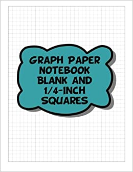 buy graph paper notebook blank 1 4 inch squares blank 4