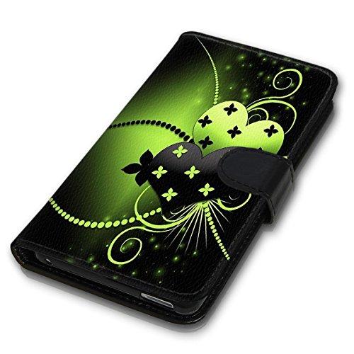 Wallet Book Style Flip Handy Tasche Case Schutz Hülle Schale Motiv Etui für Apple iPhone 5 / 5S - Design Flip MVD394