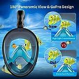 Aegend Full Face Snorkel, 180°Panoramic Larger
