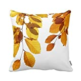 Decorative Pillow Cover - Decorbox Fall Autumn Leaves Yellow Orange Tree Decorative Square Throw Pillow Case Personalized Cushion Cover Home Decorative Pillow Cover 18x18