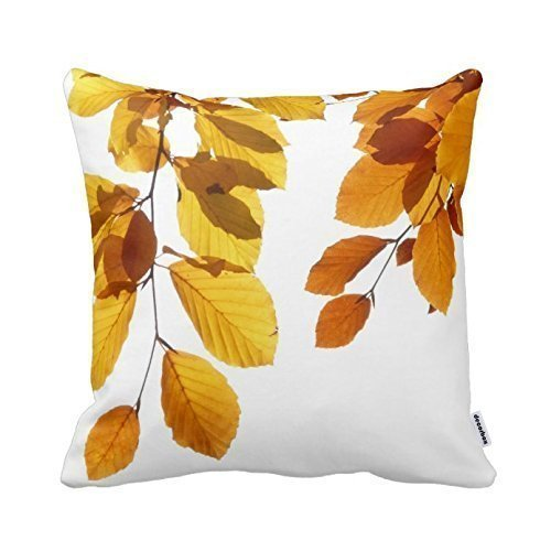 Fall Decorative Pillow (Decorbox Fall Autumn Leaves Yellow Orange Tree Decorative Square Throw Pillow Case Personalized Cushion Cover Home Decorative Pillow Cover)