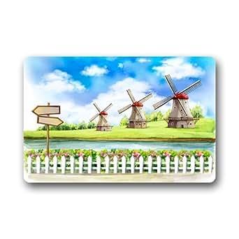 """Home Art Beautiful Windmill Custom Doormat 23.6""""(L) x 15.7""""(W)"""