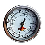LavaLock 3'' Adjustable gas charcoal smoker pit grill bbq thermometer electric Heavy Duty stainless 2.5'' stem