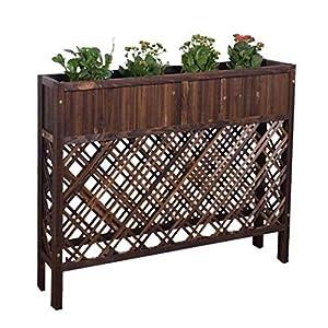 HEMFV Outdoor Patio in Legno rialzata Garden Bed Elevato Planter Box Fiore 5 spesavip