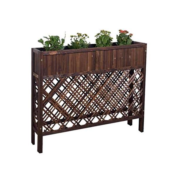 HEMFV Outdoor Patio in Legno rialzata Garden Bed Elevato Planter Box Fiore 1 spesavip