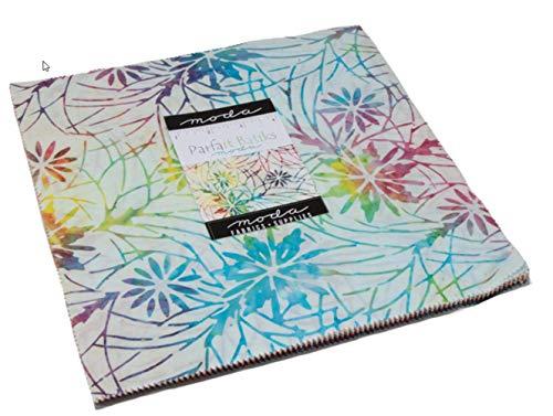 (Parfait Batiks Layer Cake 42 10-inch Fabric Squares Moda Fabrics 4351LC)