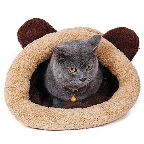 Cat Bed Mats Soft Warm Cat House Pet Puppy Cushion Rabbit (Khaki) (Scratch Mouth Sheet)