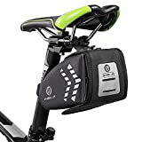 FlexDin Bike Saddle Bag Waterproof Bicycle Seat Storage Bags Cycling 1.4L Tools Pocket accessories With LED Taillight Mesh Pocket & Reflective Stripes