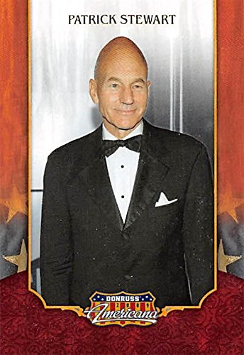 (Patrick Stewart trading card (Captain Picard, Star Trek) 2009 Donruss Americana #2)