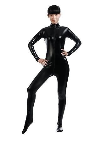 Chengyang Disfraz De Segunda Piel Disfraces Halloween Shiny Catsuit - Disfraces-sin-cabeza