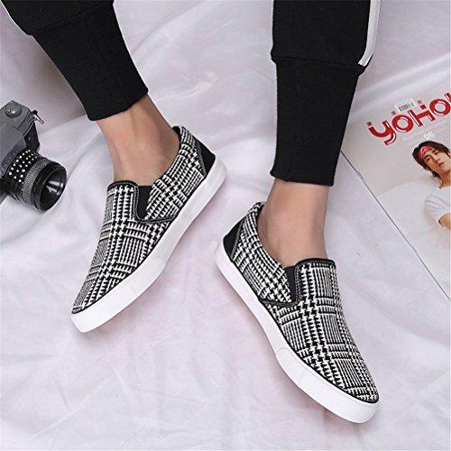 Marée Casual Sport Tendance De Nouvelles Paresseux Chaussures De De Aide Bas Noire Chaussures Huateng De Pédale Hommes Chaussures Printemps Toile Chaussures aqHwxSfwF