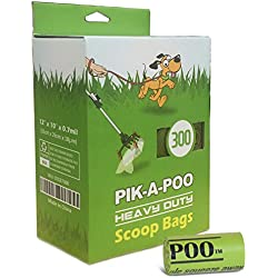 pik-a-Poo 7 One-Handed Poop Scoop Refill Bags (300 Counts) by Klean