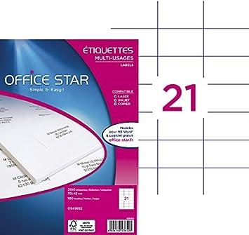 Impression laser // jet dencre, Personnalisables et imprimables Format 105 x 148,5 mm Boite de 400 /étiquettes autocollantes multi-usages OS43483 OFFICE STAR