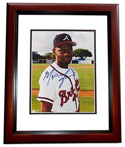 Signed Grissom Photograph - 8x10 MAHOGANY CUSTOM FRAME - PSA/DNA Certified - Autographed MLB Photos Mahogany Marquis