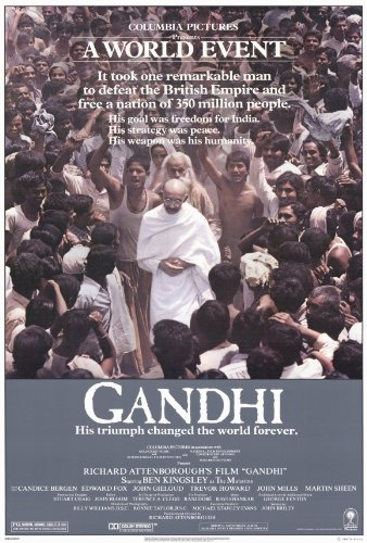 Gandhi Movie Poster (27 x 40 Inches - 69cm x 102cm) (1982) -(Ben Kingsley)(Candice Bergen)(Edward Fox)(John Gielgud)(John Mills)(Saeed Jaffrey)