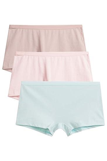 93ae5d05cc59 SANQIANG Women's Lycra Boyshorts Panties Stretch Boy Brief Underwear 3-Pack  ...