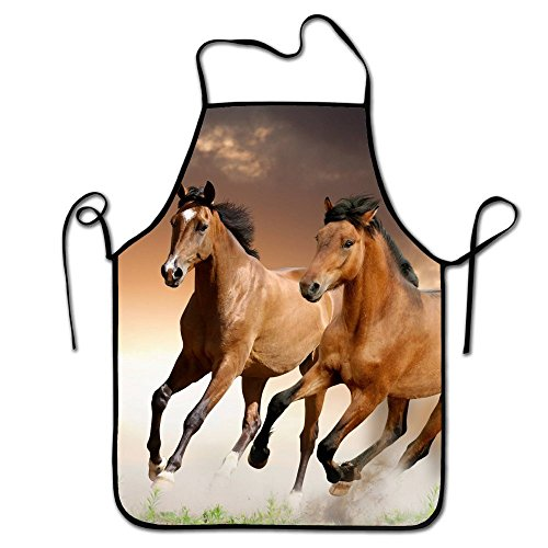 Apron Horse (RESULT LOVE Cover Non Slip Machine Horse galloping horse Baking Apron Cleaning Apron Gardening Apron Serving Apron)