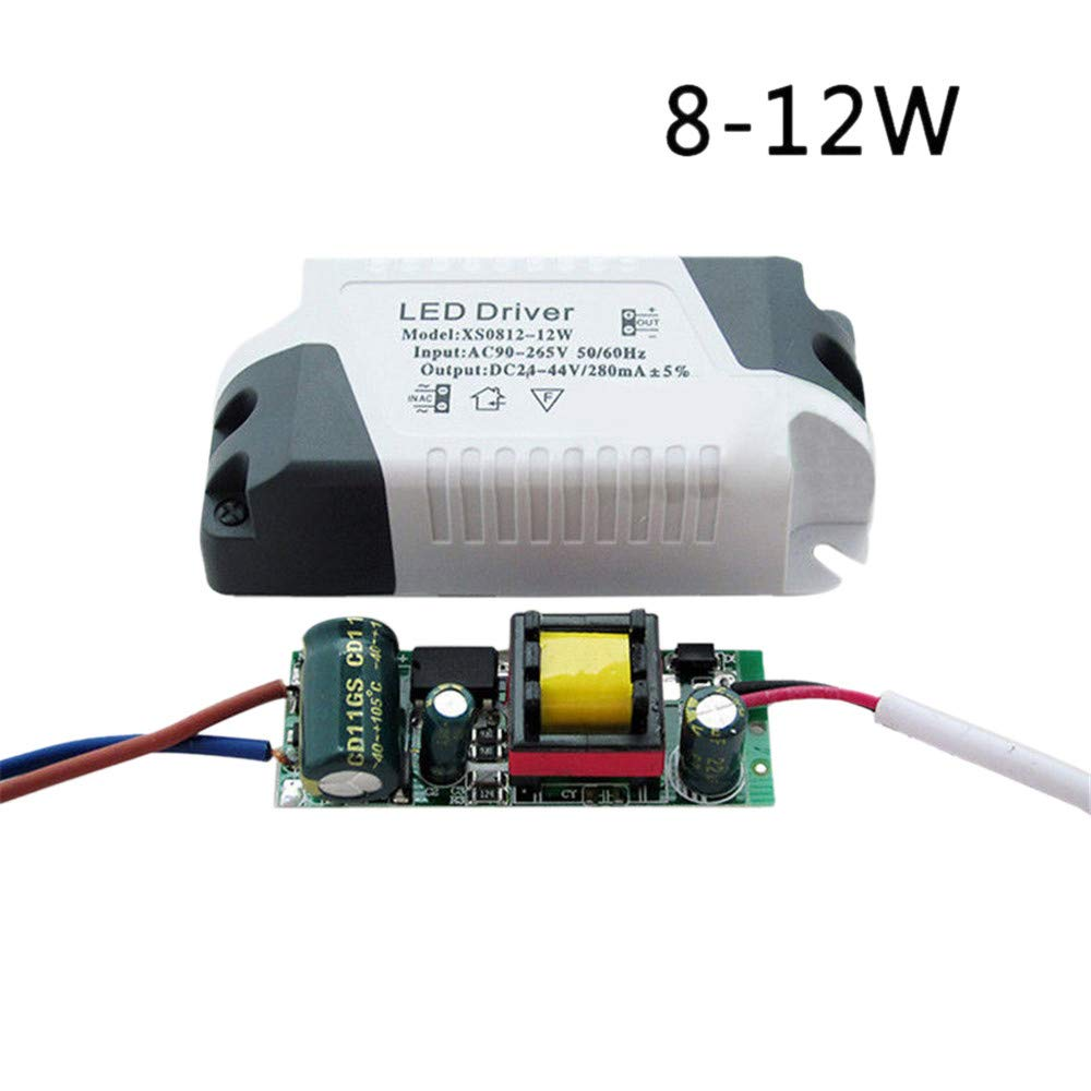 YUYOUG 1Pack/2Packs LED Driver 3W-24W Dimmable Ceilling Light Lamp Transformer Power Supply DIY (1Pack, 3W) ZCW_80320688