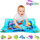 Gugusure Inflatable Tummy Time Water Play Mat , Indoor and Outdoor Baby Play mat Leakproof, Fun Activity Play Center Your Baby's Stimulation Growth 26