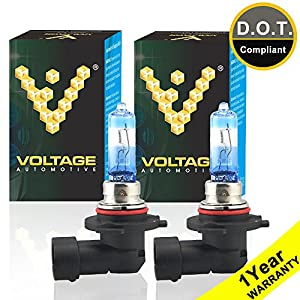 Voltage Automotive 9005 HB3 Headlight Bulb Night Eagle 40 Percent Brighter Professional Upgrade (PAIR) - Replacement for High Beam Low Beam Fog Lights