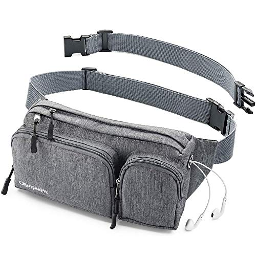 Fanny Pack s Large Women Men Girls Man Boy Cute Cool Waist Bag Dad Mom Hiking Travel Camp Swim Running Money Belt Roomy Beach Dog Walking Sport Phone 90 80 Wallet Gun Gym Hip Bum Festival XL Gray Big
