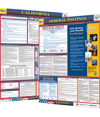 Osha4less Labor Law Poster - State and Federal, California (CA-CB)