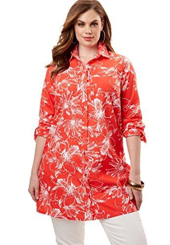 Roamans Womens Plus Size Kate Tunic
