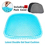 Gel Seat Cushion,Honeycomb Design Cushion Super Breathable Gel Cushion Body Pressure Distribution Portable