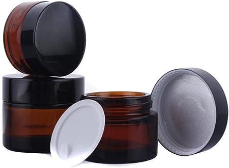 3g Pots Vide Cosm/étique en Plastique pour Cr/ème de Maquillage /Échantillon Bo/îte avec Couverture Blanche 25 pi/èce