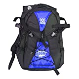 quad atom - Atom Roller Derby Quad Skate and Inline Skate Sport Backpack w/ FREE Devaskation Lanyard - 2017 Blue