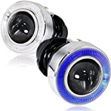 """Universal 3"""" Round Heavy Duty Front Bumper Blue Halo Projector Fog Light Lamps Kit"""