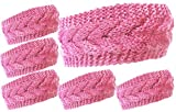 KMystic Plain Braided Winter Knit Headband (6 Pack Pink)