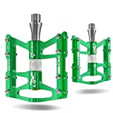 RockBros Advanved 4 Bearings Mountain Bike Pedals Platform Bicycle Flat Alloy Pedals 9/16""