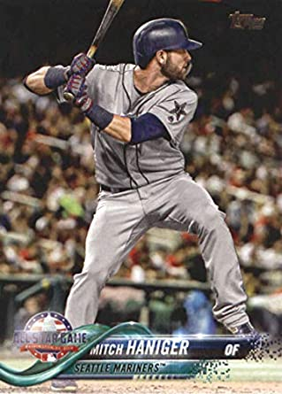 778ee4136 2018 MLB Topps Update US236 Mitch Haniger Seattle Mariners Official Baseball  Trading Card