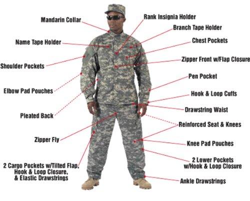Army Combat Uniform Shirt 1XL by Rothco