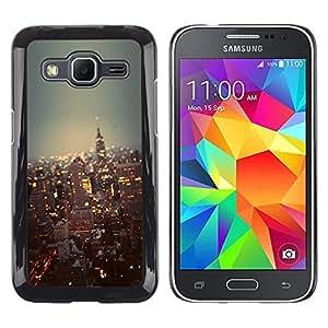 Be Good Phone Accessory // Dura Cáscara cubierta Protectora Caso Carcasa Funda de Protección para Samsung Galaxy Core Prime SM-G360 // city New York skyline buildings NYC