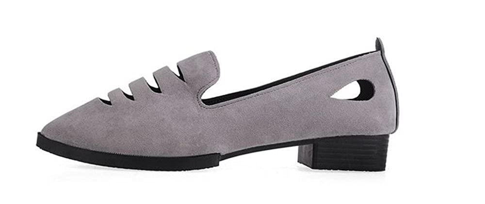 Hanglin Trade Womens Pointed Toe Ladise Shoes Casual Low Heel Flat Shoes Summer Platform Dress Shoes