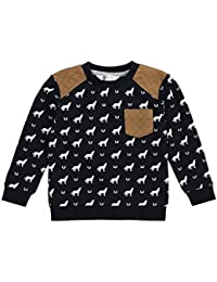 Petit Lem Little Boys' Wolf Pack Knit Sweatshirt