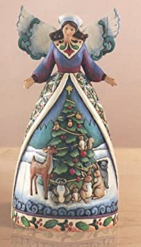 Jim Shore Angel With Woodland Animals Figurine Christmas For All Great And Small 4007932