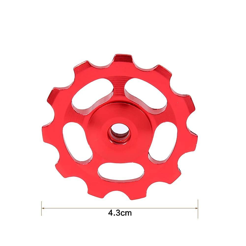 2 St/ück Aluminiumlegierung Fahrrad Schaltwerk Riemenscheibe Zubeh/ör f/ür Reiten Radfahren VGEBY1 Fahrrad Umwerfer Riemenscheibe