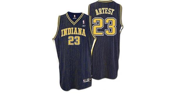 timeless design ce789 19eca Amazon.com: Ron Artest Navy Reebok NBA Swingman Indiana ...