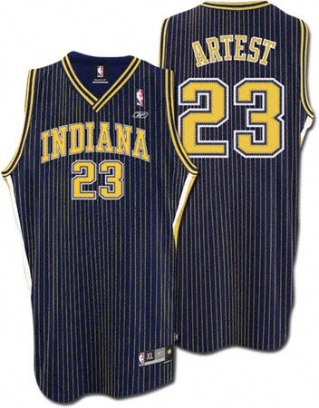 new style 9f666 719ad Ron Artest Navy Reebok NBA Swingman Indiana Pacers Youth ...