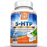 BRI Nutrition 5 HTP 100mg 120 Vegetarian Capsules : Supports Depression & Anxiety Relief / Boosts Serotonin Production / Sleep Aid Supplement