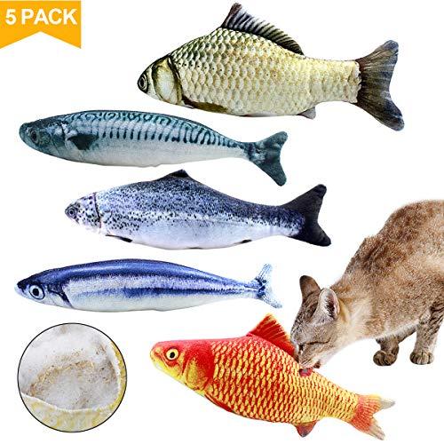 Natuce Spielzeug mit Katzenminze, Fisch Katzenminze Spielzeug, Katze Spielzeug, Simulation Fisch, Katze Interaktive…