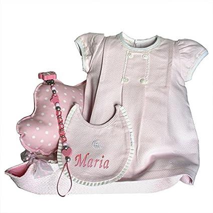 Canastilla bebé - Paseo Nube rosa - cesta regalo recién nacido Mil ...