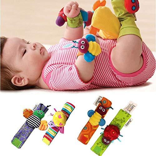 CXZX 1 Pares Divertido Animal Infantil Bebé Niños Mano Muñecas Muñecas, Suave Calcetines de pie Sonajeros Juguetes,...