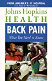 Back Pain, John Hopkins, 0737016019