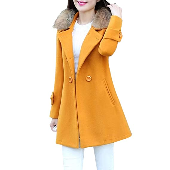 Amazon.com: Womens Open Front Overcoat Clearance- Jiayit Women Jacket Fur Collar Parka Cardigan: Clothing