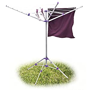 Relaxdays s che linge tendoir linge ext rieur corde 19 for Seche linge exterieur parapluie