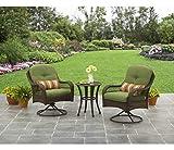 3-Piece Outdoor Furniture Set, Better Homes and Gardens Azalea Ridge 3-Piece Outdoor Bistro Set, Green, Seats 2